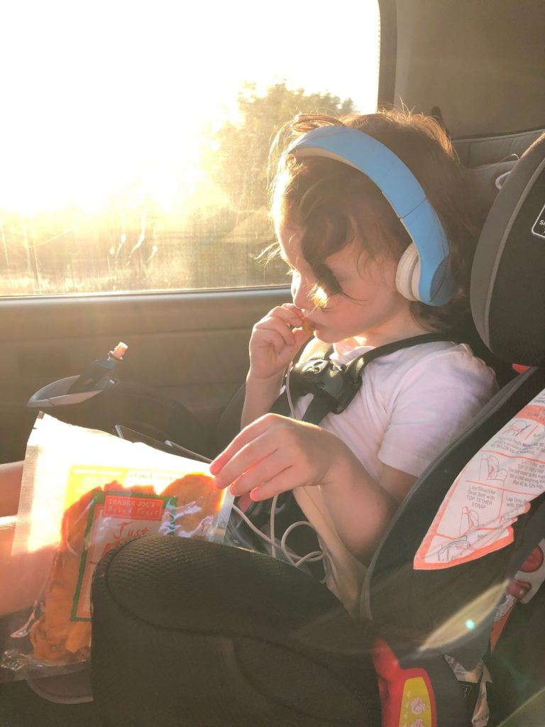 Child eating snack - gluten and dairy free snacks for kids.