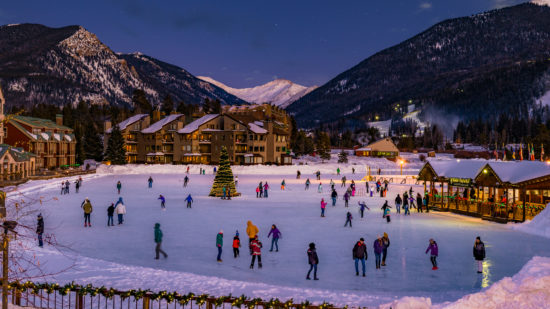 ice skating in Keystone, one of the best family ski resorts in Colorado
