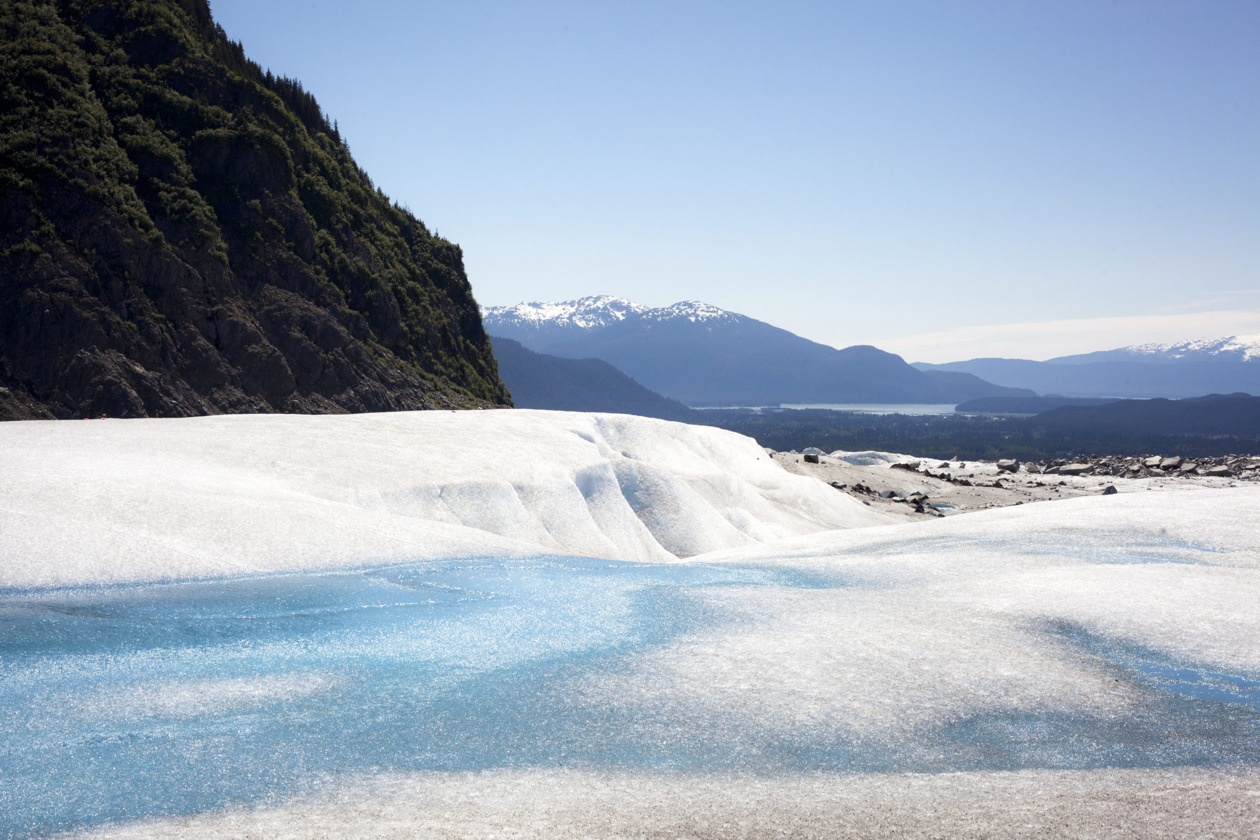 Mendenhall Glacier Recreation area, although not free, is an affordable must see thing to do in Juneau, Alaska. Photo: Travel Juneau