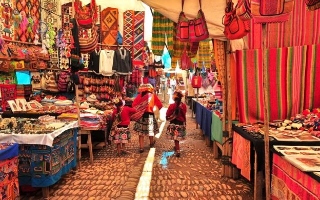 Travel to Peru to see the Markets of Pisac.