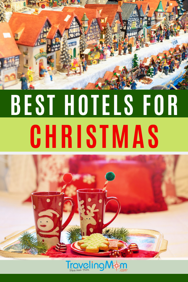 Spend time with family this holiday season at one of these amazing Christmas hotels. These winter hotels were chosen for their broad range of activities to please multi-generational travelers and incredible ways to celebrate Christmastime away from home. #TMOM #Christmas #USA #Hotels #WinterTravel | TravelingMom | Resorts | Multi-Generation Travel