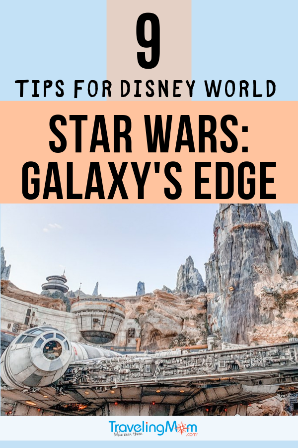 Star Wars: Galaxy's Edge is the newest Land at Disney's Hollywood Studios. Visiting Batuu takes a bit of planning, so be sure to check out these tips for visiting Star Wars Land at Disney World. #TMOM #Disney #DisneyWorld #StarWars #GalaxysEdge #DisneyTips | TravelingMom | Family Travel | Travel with Kids | Florida | Orlando