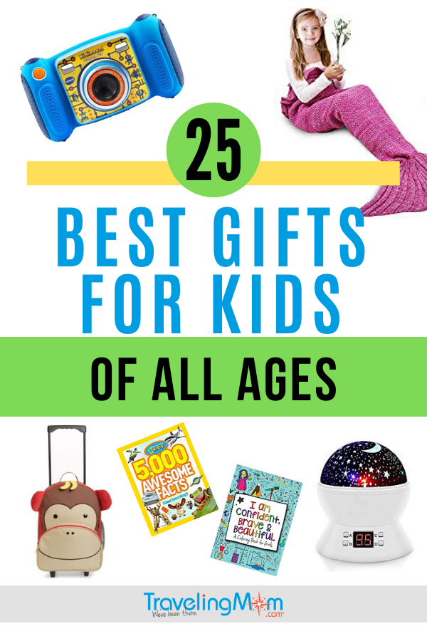 Unique and clever gifts for kids of all ages including preschoolers, tweens and teens in this practical and fun gift guide. No need to be clueless on what to buy the kids this holiday season with these top 25 best gifts! #TMOM #Gifts #Shopping #Holidays #GiftGuide | TravelingMom