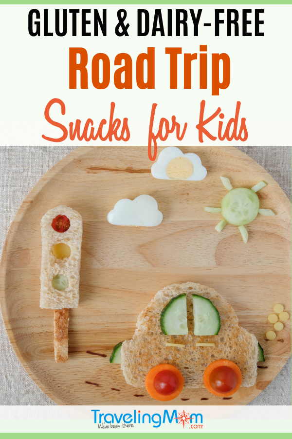 Hit the road safely with these kid-tested gluten and dairy-free road trip snacks. Portable and perfect for road trips with kids, this list of 21+ allergy friendly snacks contain no dairy and are gluten-free. #TMOM #RoadTrip #Snacks #TravelTips #Allergies #AllergyFriendly #RoadTripSnacks #FamilyTravel #TravelwithKids | TravelingMom | Travel Tips | Packing Tips
