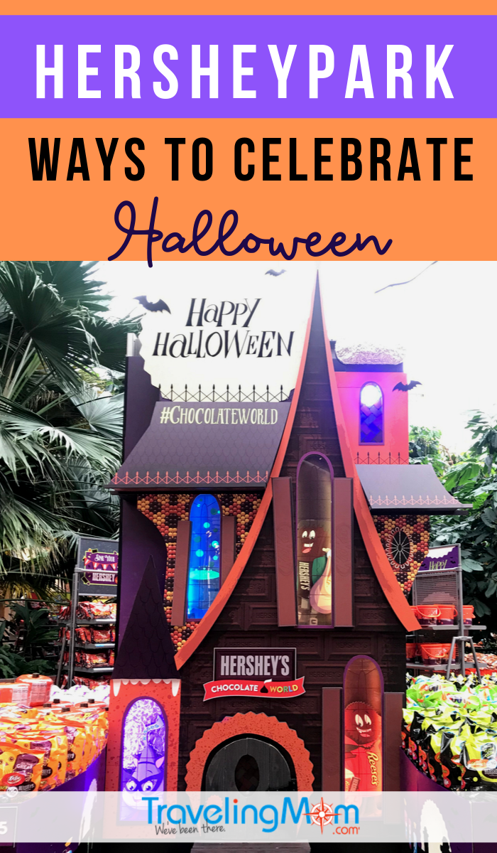 Get all the tips on how to celebrate Halloween at Hersheypark! Find out what's appropriate for little kids at this Pennsylvania theme park, including Hersheypark after dark. #TMOM #Halloween #Hersheypark #Pennsylvania #FallTravel | TravelingMom | Travel with Kids | Theme Park | Hershey | Fall Travel