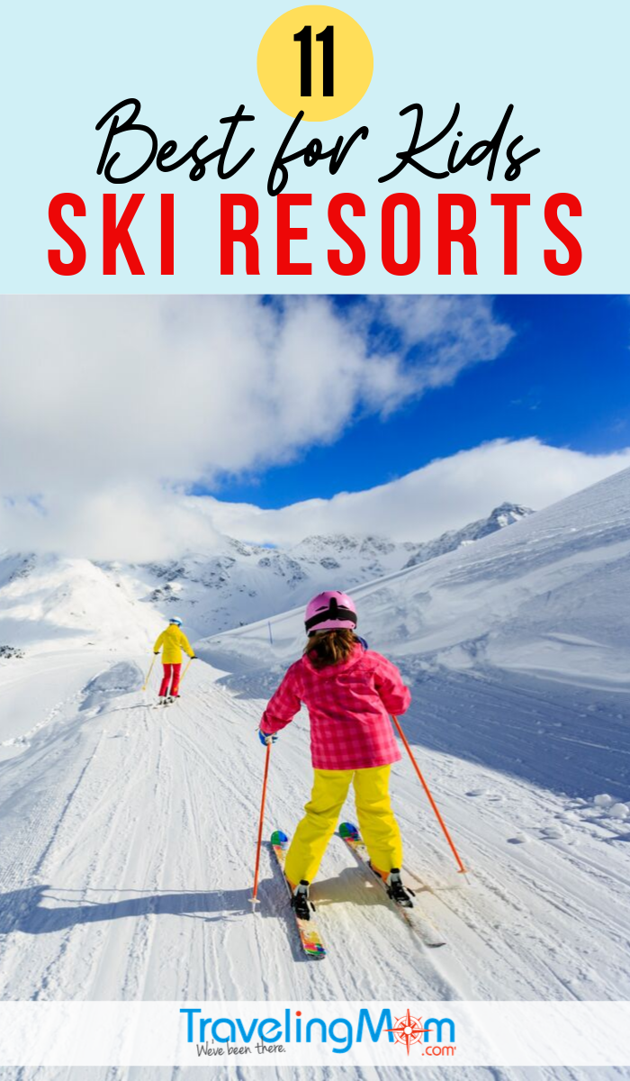 Skiing with kids and looking for the best kid-friendly resorts? These are the verified top 10 ski resorts in the United States for kids from ski school, snowboarding, family activities and rooms. #TMOM #WinterTravel #TravelwithKids #FamilyTravel #Skiing   TravelingMom
