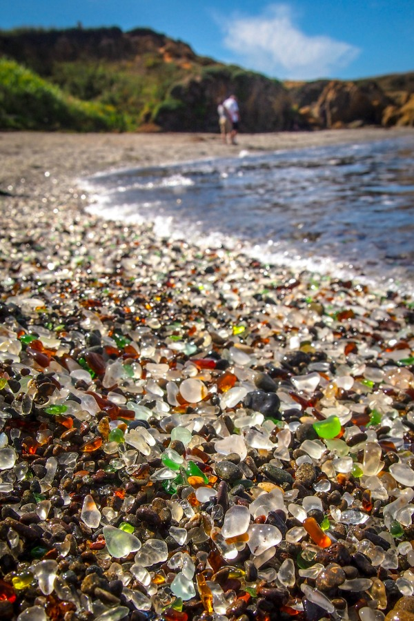 See the glass beach along the Mendocino coast.
