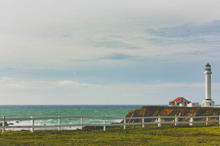Visit the Point Arena Lighthouse when touring the Mendocino coast.