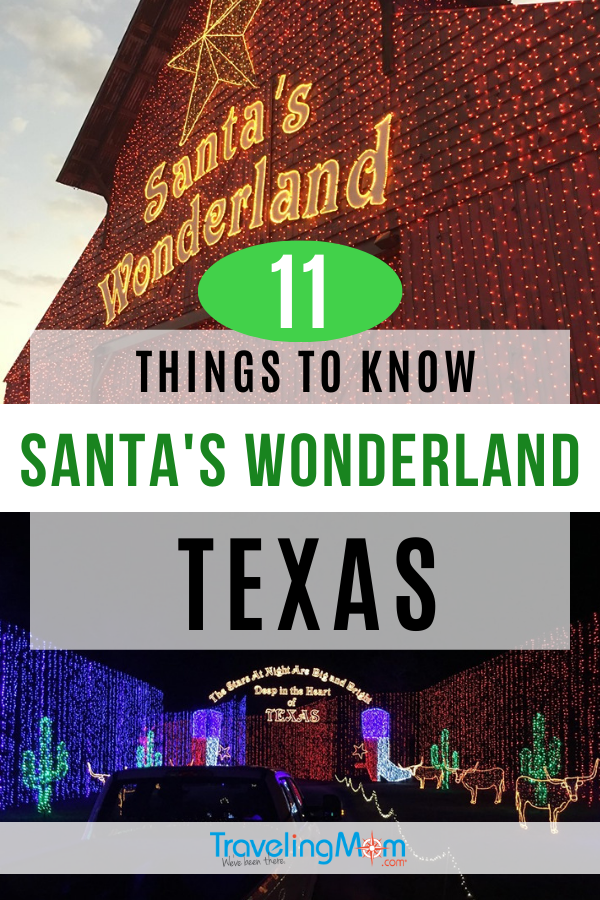 Santa's Wonderland is a Texas tradition but you can save time and money with these awesome tips! Before heading to this winter College Station experience, find out how to maximize time, dining, included activities and ideas on where to stay in the area. #TMOM #Texas #WinterTravel #CollegeStation #SantaClaus   TravelingMom   Travel with Kids   Family Travel   Santa's Wonder Land   Winter Travel   Christmas Lights   Holiday Vacation