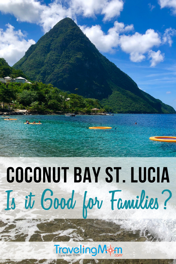 Coconut Bay in St. Lucia is an all-inclusive resort in the Caribbean. But is it a good fit for families? Find out more about the rooms, spa, food and activities and whether you should bring the kids! #TMOM #CoconutBay #StLucia #Caribbean #Allinclusive #BeachVacation | TravelingMom | Island Vacation | Travel with Kids | Family Travel | Tropical Island