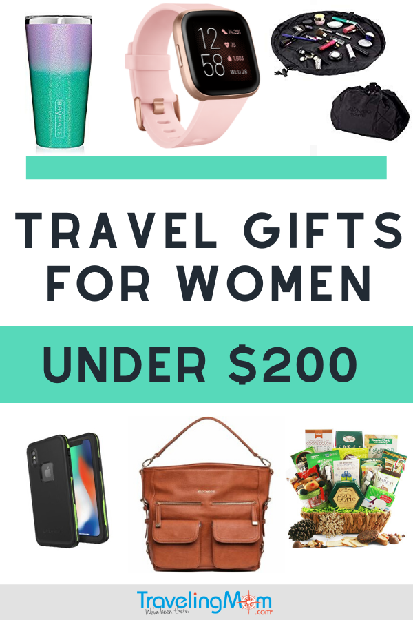 Knock her holiday socks off with these awesome gifts for women who love to travel. Each priced under $200 each, with tons of options for a lower budget. She'll love the personal and practical gifts you choose off this gift guide. #TMOM #Gifts #Shopping #GiftGuide #HolidayGifts #GiftsforWomen | TravelingMom