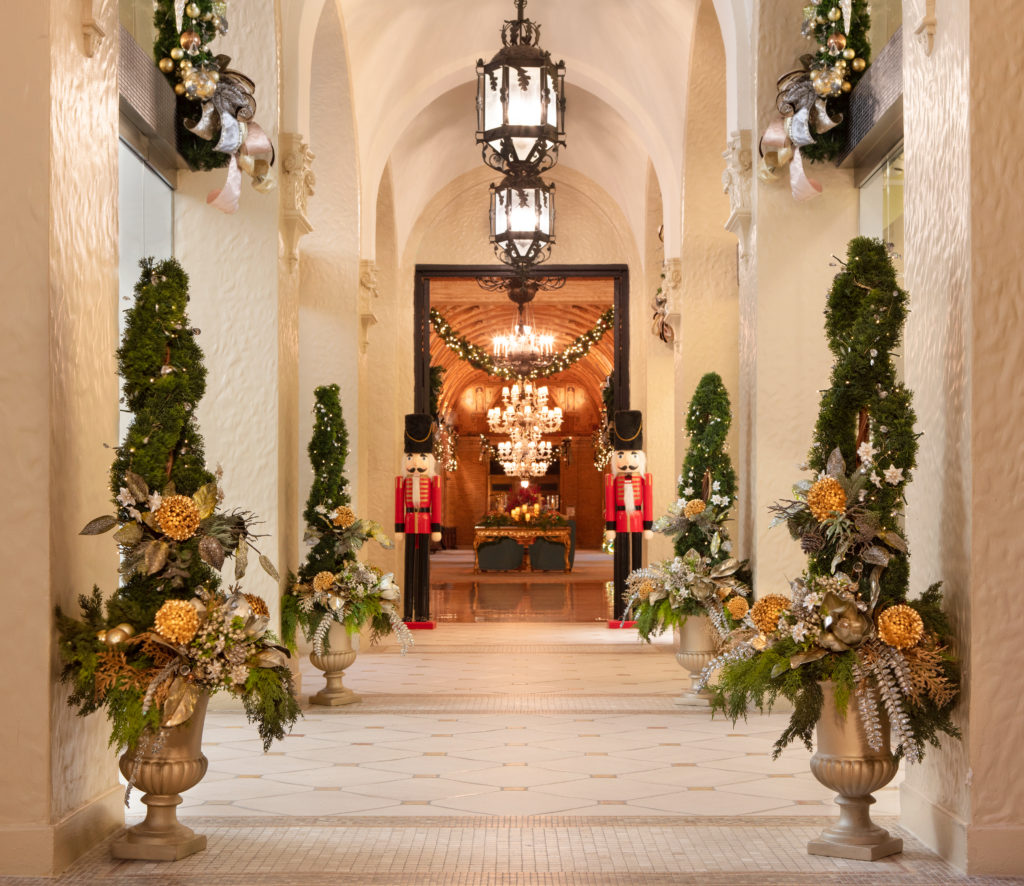 The Breakers Palm Beach, one of the best Florida resorts, dressed up for Christmas