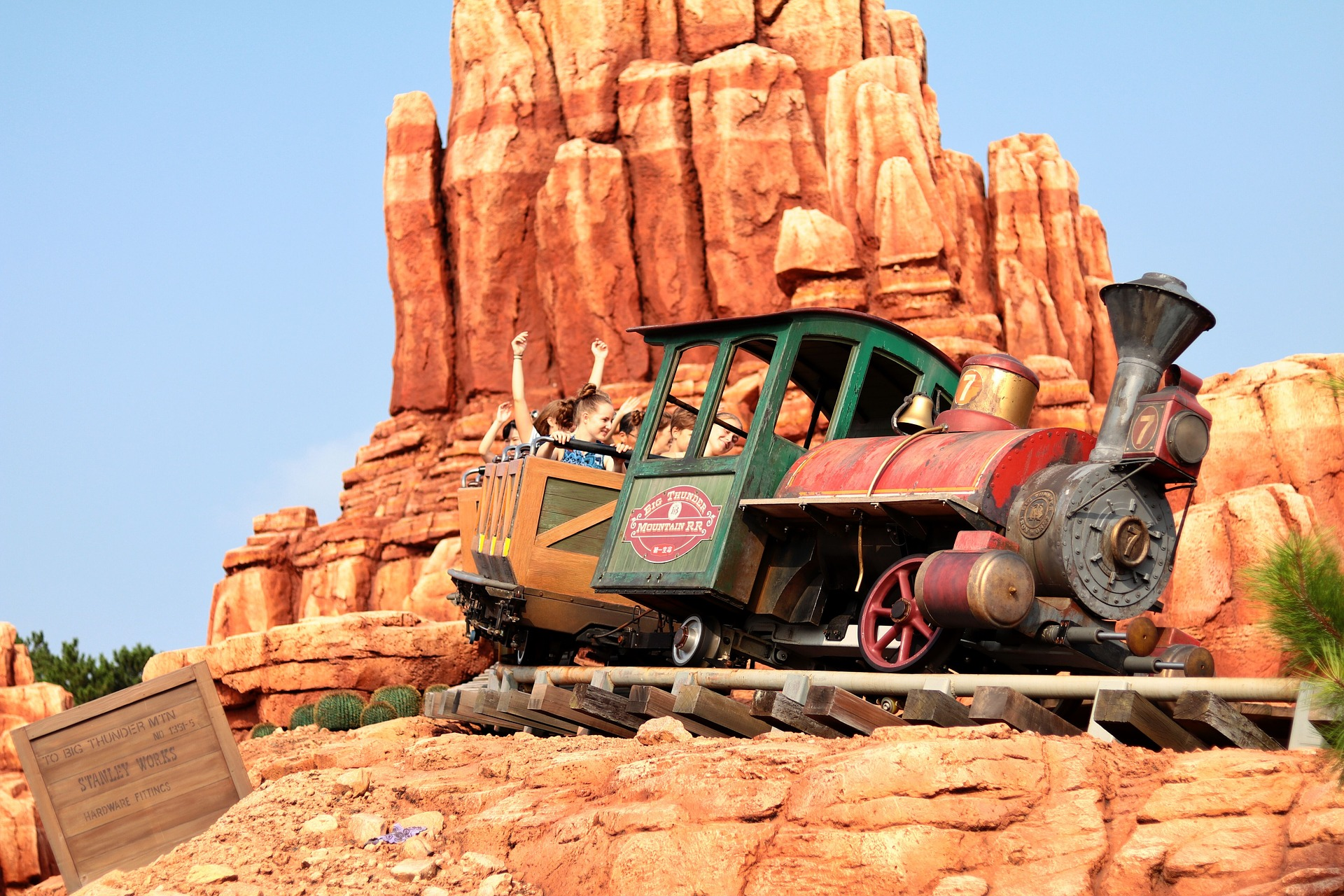 The Big Thunder Mountain Railroad could be one of the scariest rides at Disneyland.