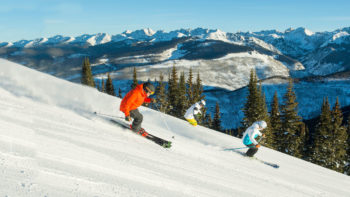 skiers on vail mountain