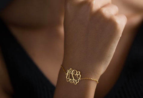 Personalized bracelet makes a great gift for women.