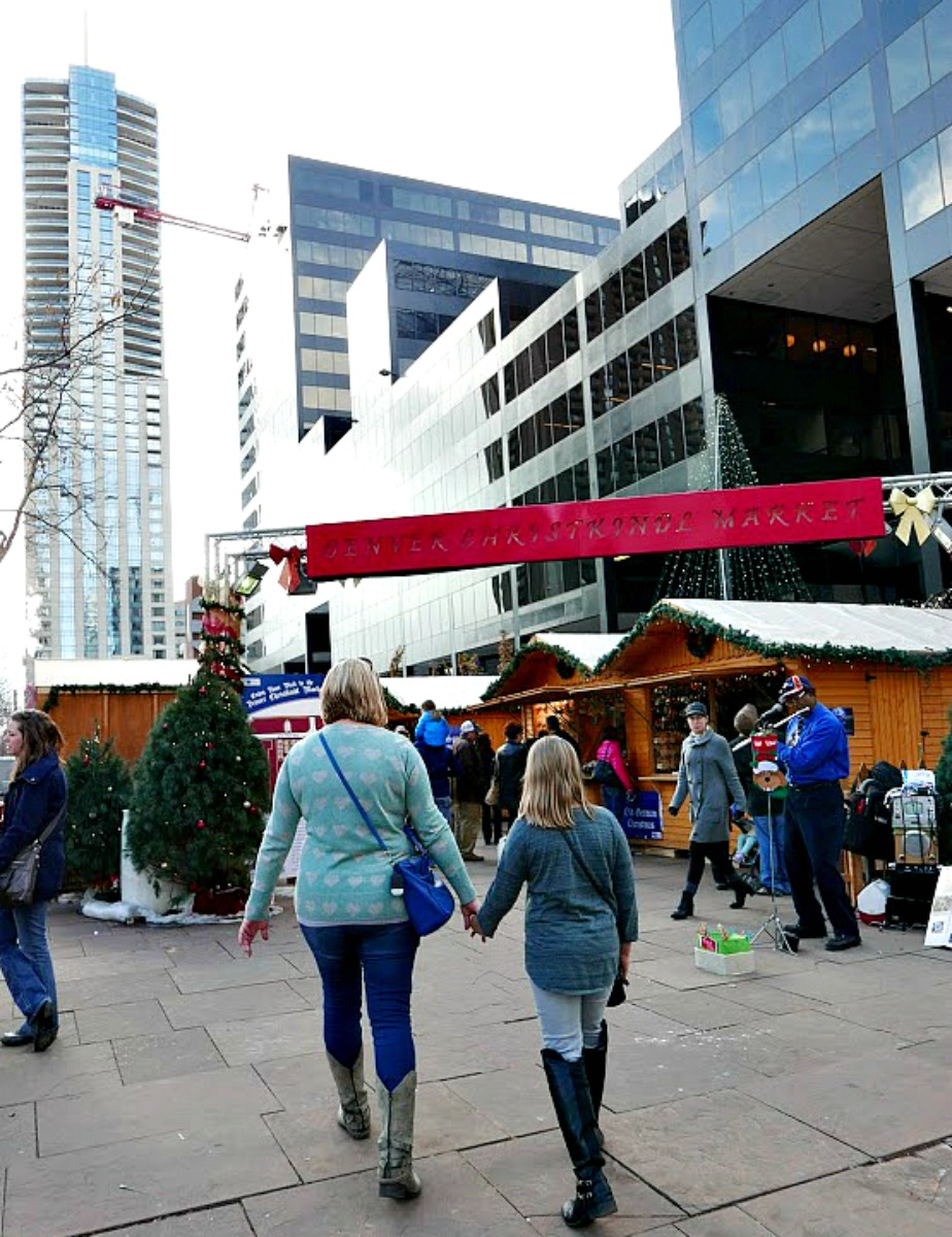 Entry is free into Downtown Denver's family friendly Christkindl Market.