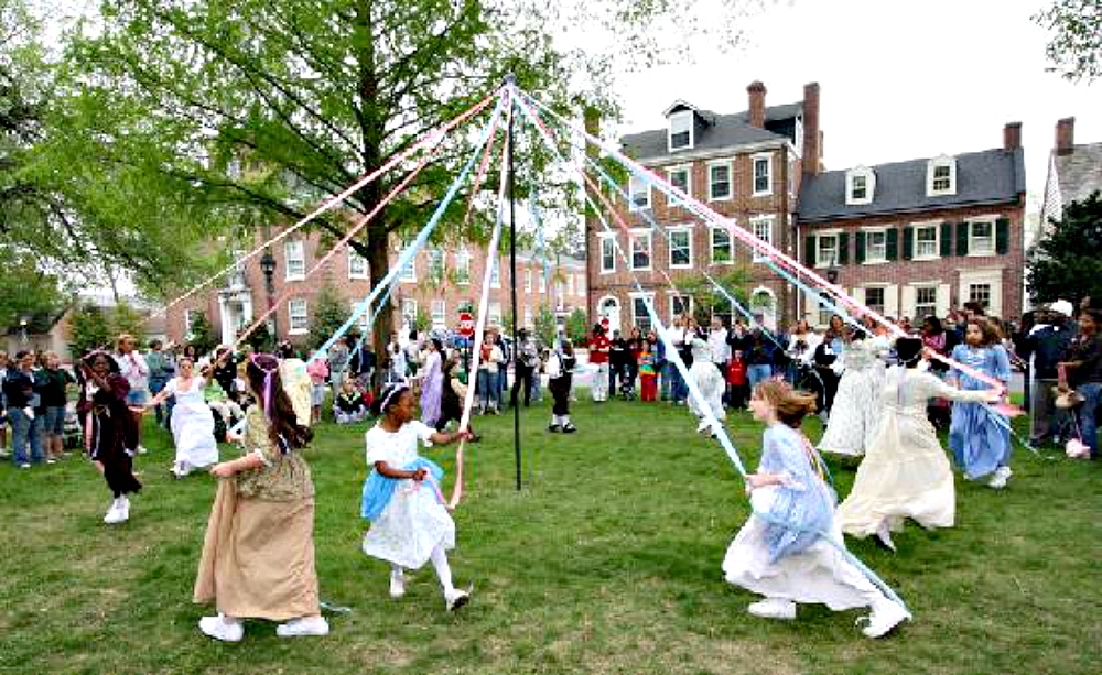 Old Dover Days is an annual event held in May that includes maypole dancing. Photo: Visit Delaware Villages.