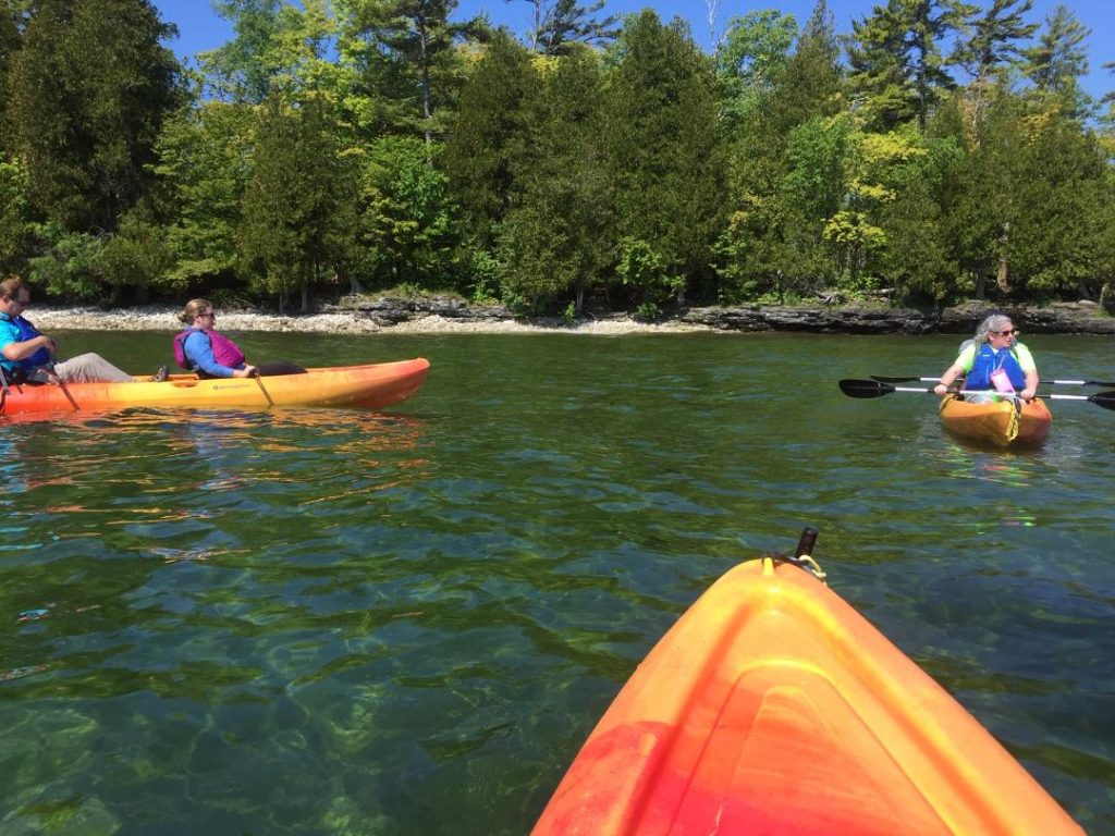 kayaking is among things to do in Door County