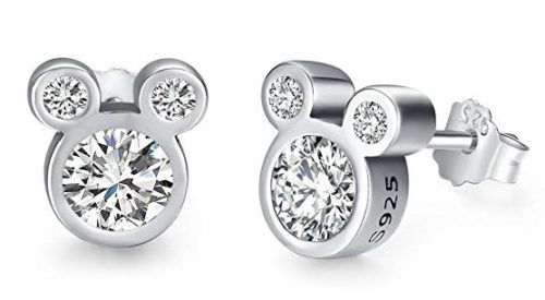 Great gift ideas for the Disney lovers: Mickey stud CZ earrings
