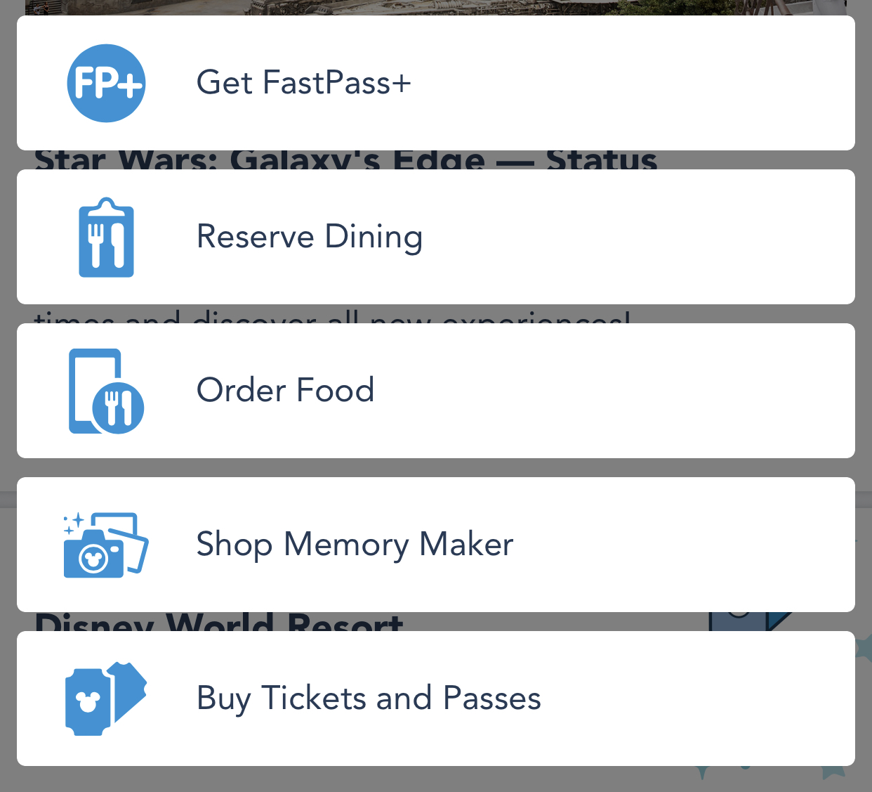 Use the My Disney Experience app to book fastpasses.