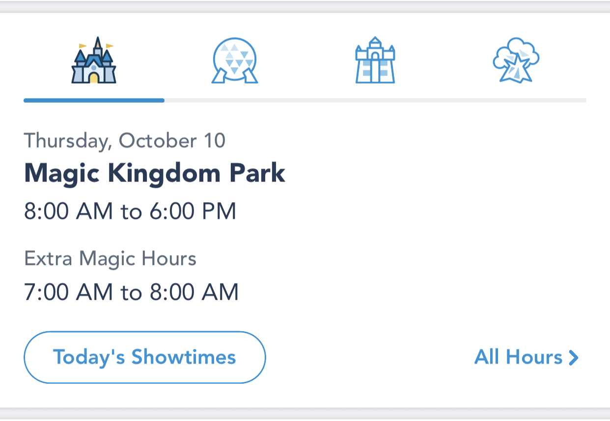 Use My Disney Experience to see scheduled times for shows.