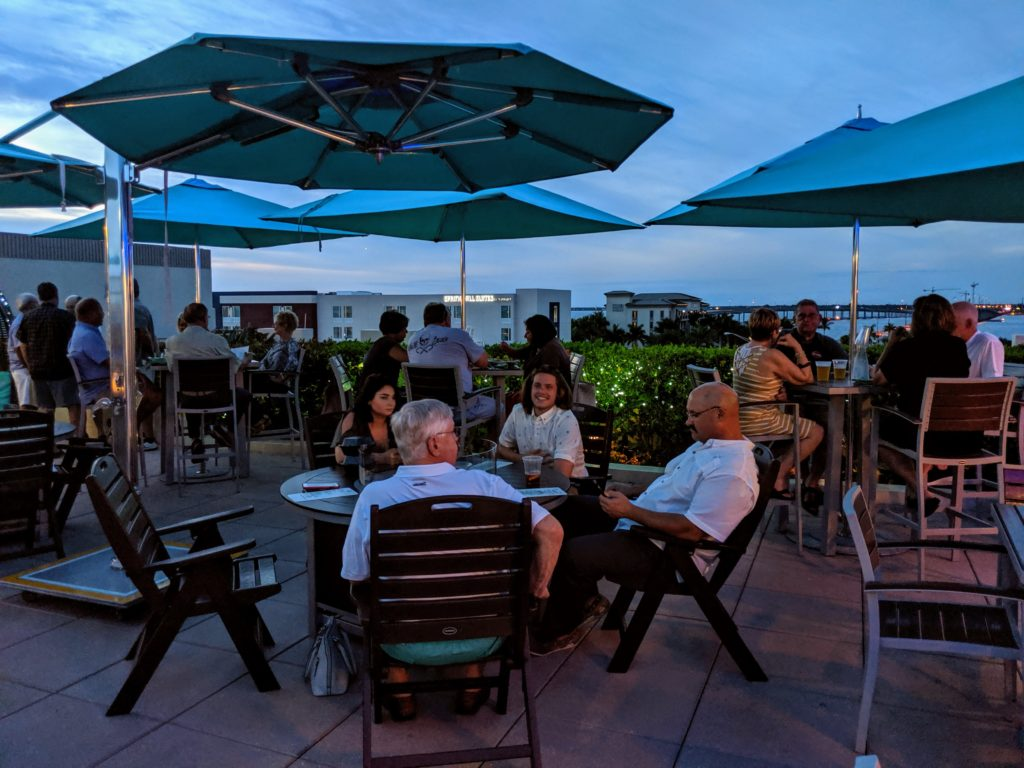 Rooftop dining at PERCH 360 at th Wyvern Hotel
