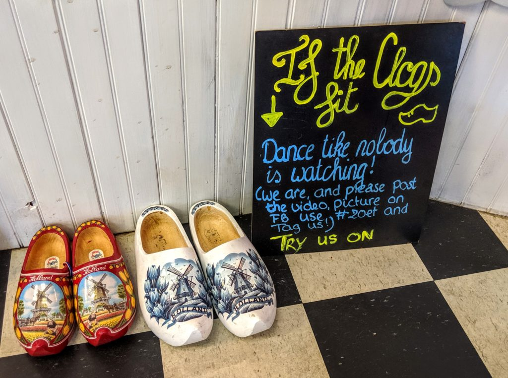 Dancing clogs at Zoet Sweet Boutique in Punta Gorda Florida