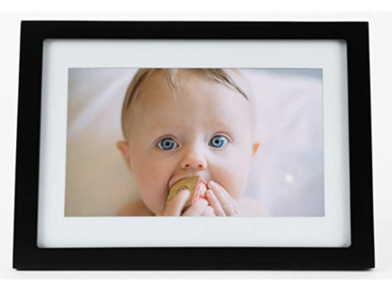 digital photos frame with a babies picture