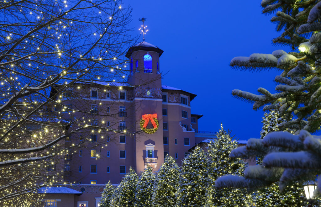 The Broadmoor in Colorado Springs at Christmas.