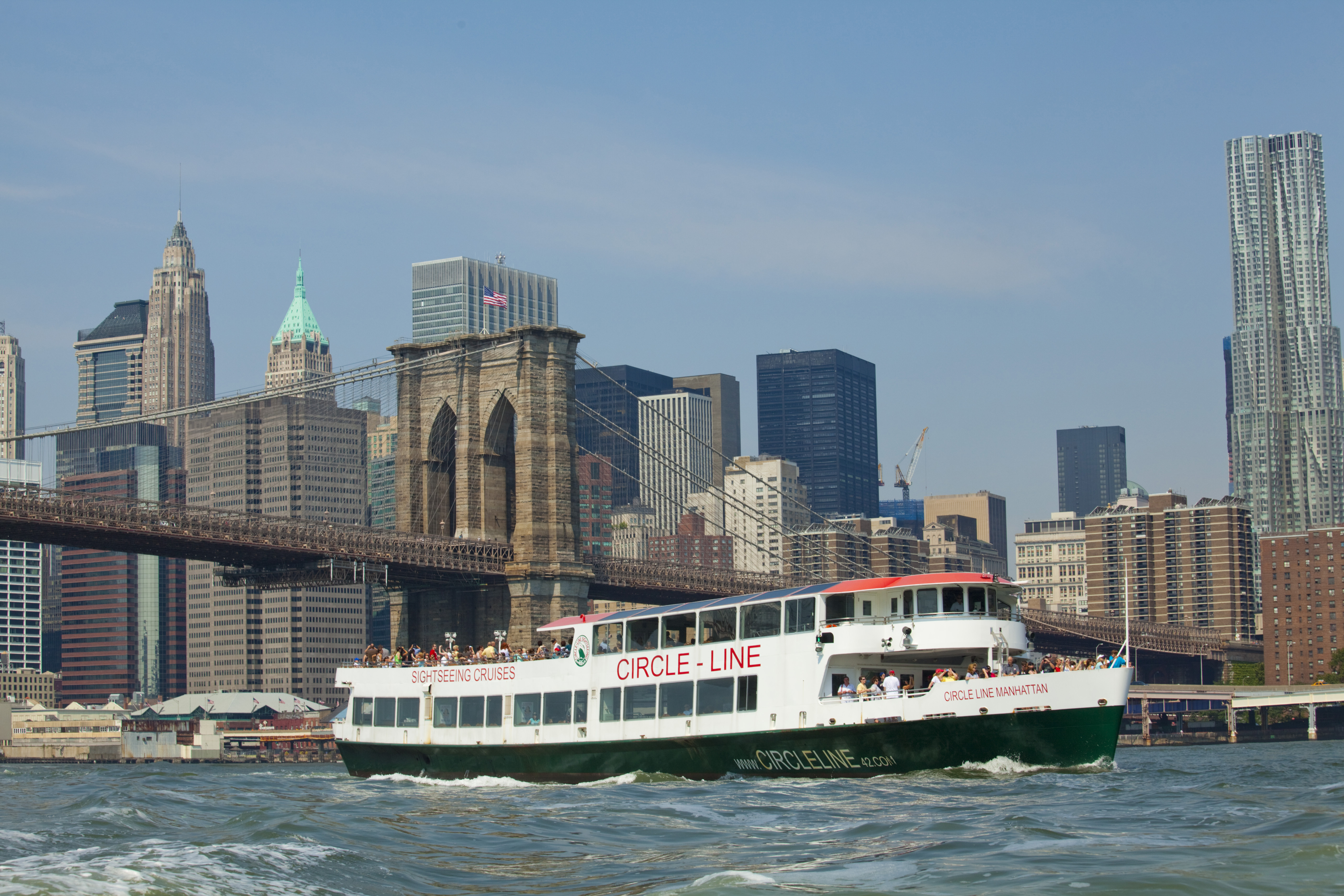 Circle Line boat in NYC, one of the attractions you can visit using a CityPASS