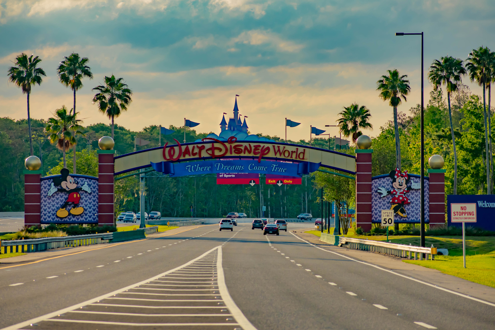 Disney World transportation - entering Disney World