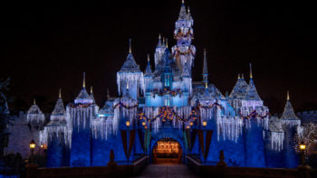 Castle decorations for Disneyland Christmas