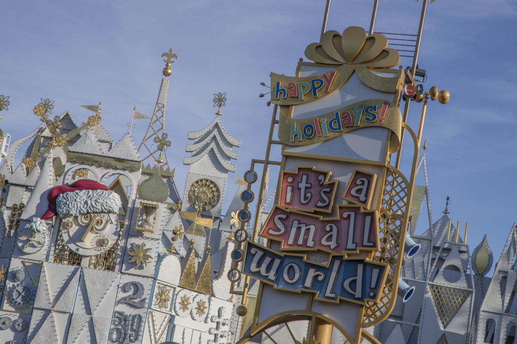 It's A Small World at Disneyland Christmas