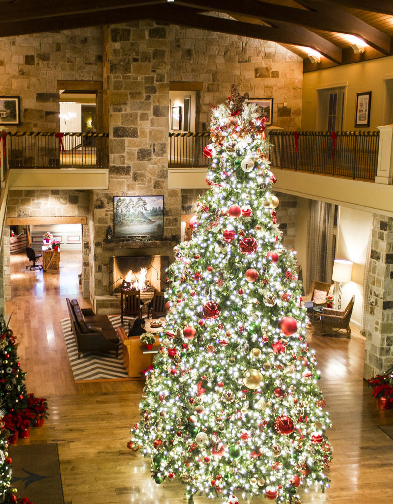Hyatt Lost Pines Resort in Texas is a lovely Christmas hotel.