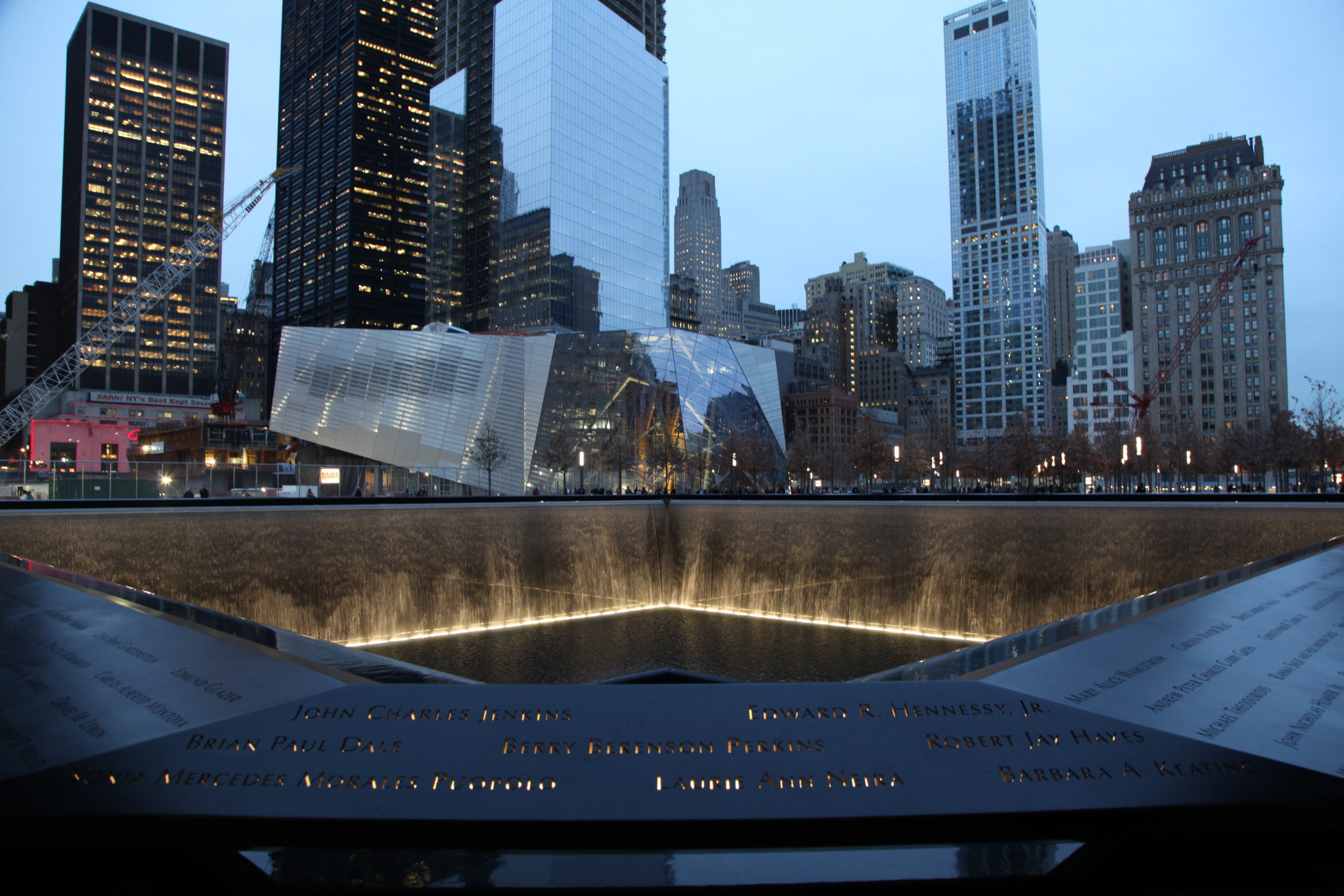 exterior of the 9/11 Memorial and Museum