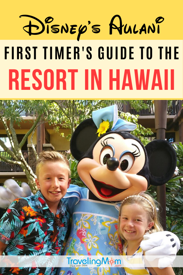 Disney's Aulani is a gorgeous resort on the Hawaiian island of Oahu in Kapolei. Get all the first timer tips on how to get there, where to stay, kid's activities that are included in the overnight costs and how to save on a trip to Aulani in Hawaii. #TMOM #Aulani #Hawaii #Disney #DisneyVacation #TravelwithKids #FamilyTravel #Island | TravelingMom | Beach Vacation | Hawaiian Islands