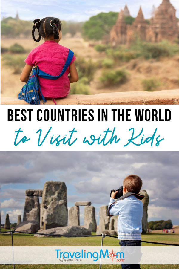 From England to Ecuador, which countries are the best for visiting with kids? Ideas for toddlers, school-aged kids and teens with tips on international destinations to explore and what to do when you get there. #TMOM #InternationalTravel #TravelwithKids #FamilyTravel | TravelingMom | Foreign Countries