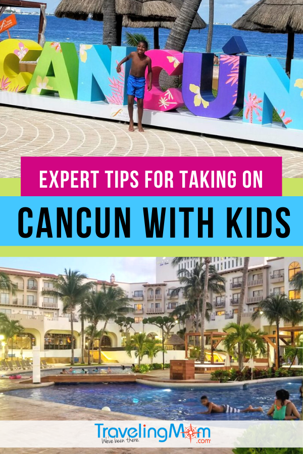 Considering a Cancun vacation with the kids? Get the pros and cons of an all-inclusive family friendly resort before planning a beach vacation to the Caribbean beach city of Cancun, Mexico. #TMOM #Cancun #Mexico #AllInclusive | TravelingMom | Travel with Kids | Latin America | Mexican Travel | Beach Vacation
