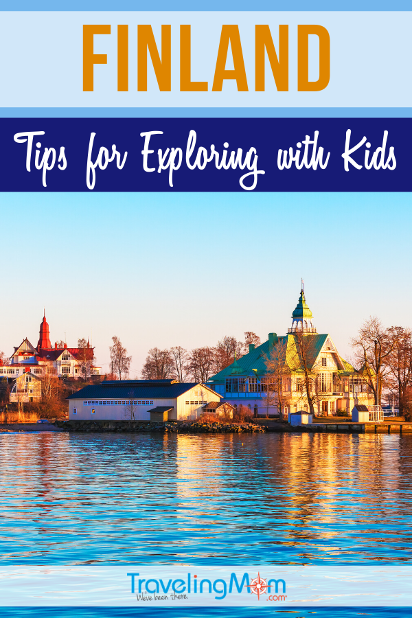 From Helsinki to Lapland, this international destination in Europe offers plenty of family fun. Finland is in the Arctic Circle but still has lots of outdoor activities, including zoo, parks and even Santa and his reindeer! #TMOM #Finland #Europe #TravelwithKids #InternationalTravel | TravelingMom | Finnish Vacation | European Travel