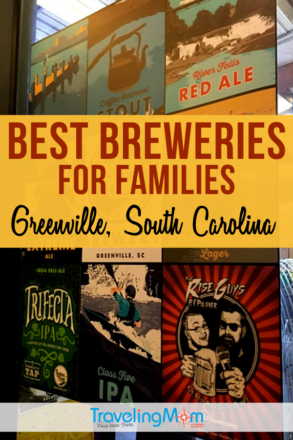 Greenville South Carolina is hopping with craft breweries, but how do you know which brewery is best for families? Get the details on which are family-friendly, menu and beer options, and overall vibes of these best Greenville breweries. #Greenville #SouthCarolina #Beer #CraftBrewery #Breweries #TMOM | TravelingMom