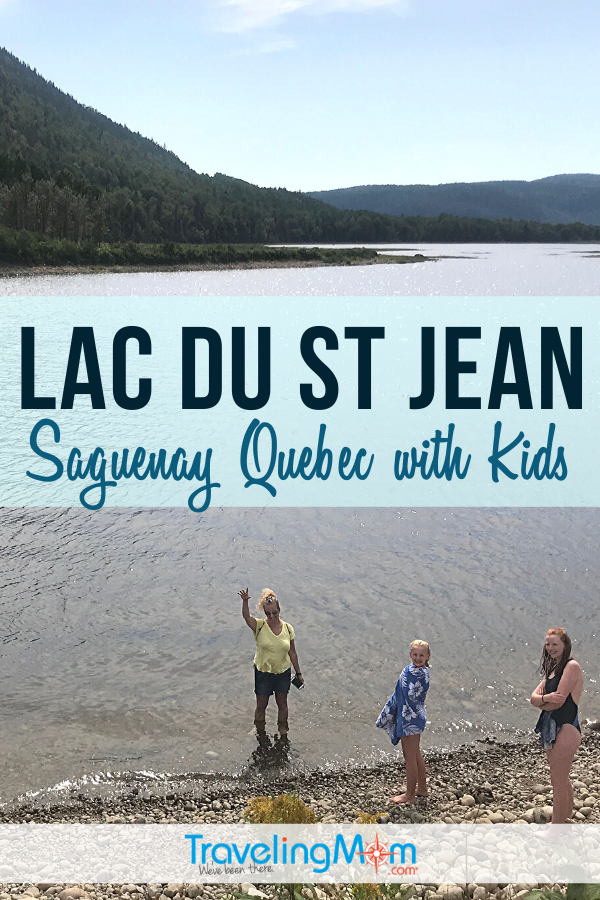 Exploring beautiful Lac du St Jean in Saguenay Quebec with kids? The area of Canana is an outdoor delight with tons of warm weather adventures, from camping, cave exploration and fjord discoveries. #Canada #Quebec #TMOM #TravelwithKids | Lac du St. John | Canandian Travel | Travel with Kids | Family Travel | Summer Vacation