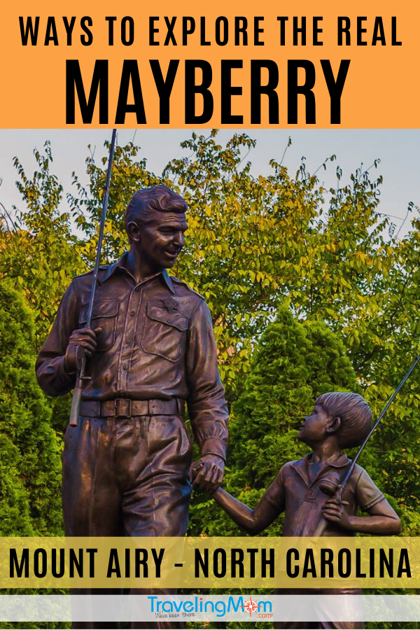 Andy Griffith's Mayberry really exists and you can visit! Find out what there is to do with kids during a weekend in the iconic small town of Mount Airy, North Carolina. #TMOM #MountAiry #Mayberry #NorthCarolina #SmallTown #TravelwithKids | TravelingMom