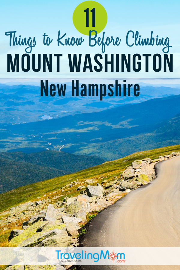 Climbing Mount Washington in the mountains of New Hampshire can be an inspirational experience. But there are several things you need to know before making the climb to the top. #TMOM #NewHampshire #MountWashington #Hiking #Camping   TravelingMom   Mountain Climbing