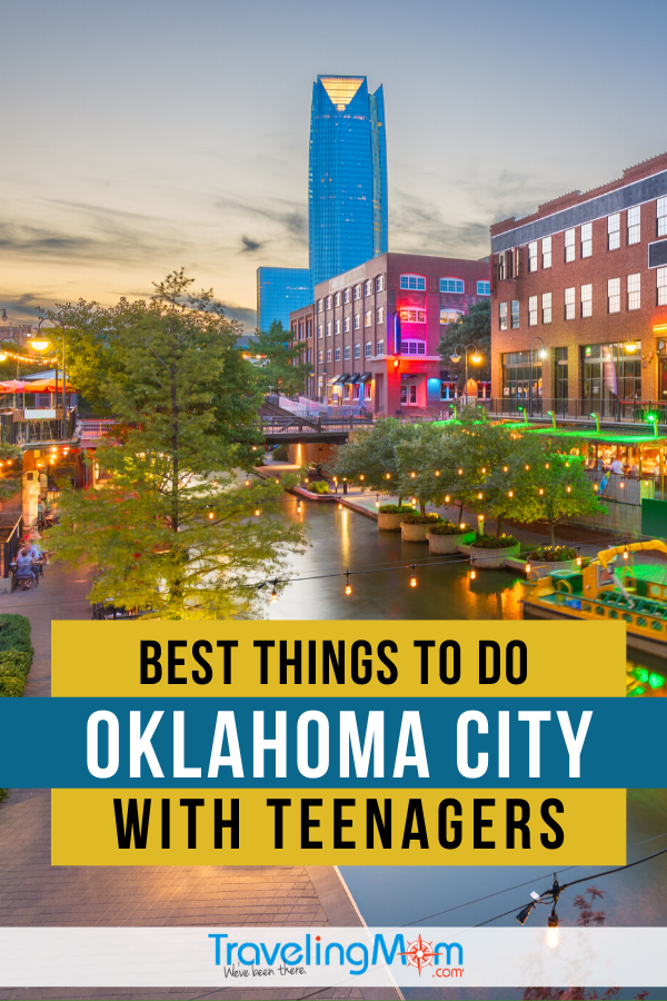 Downtown Oklahoma City offers tons of fun for teens from museums, sports and of course, food! Get the tips on the best OK activities with teenagers including where to eat. #TMOM #Oklahoma #Teens #TravelwithTeens | TravelingMom | Family Travel | Travel with Teens