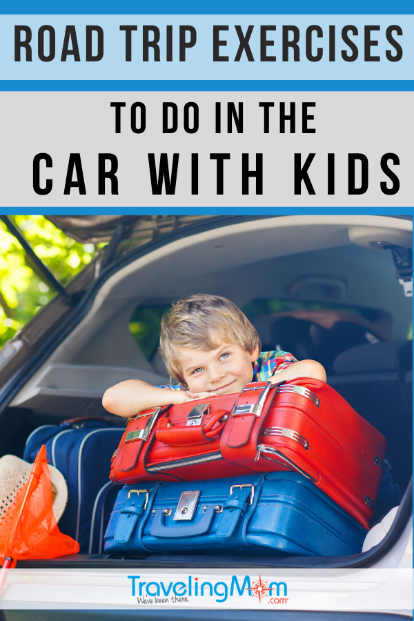 These simple exercises can be done from your seat, making them perfect to do on long road trip stretches. Get the kids involved with these road trip exercises you can do in the car! #TMOM #RoadTrip #FitnessontheRoad #TravelwithKids #FamilyTravel | TravelingMom | Family Travel | Travel with Kids