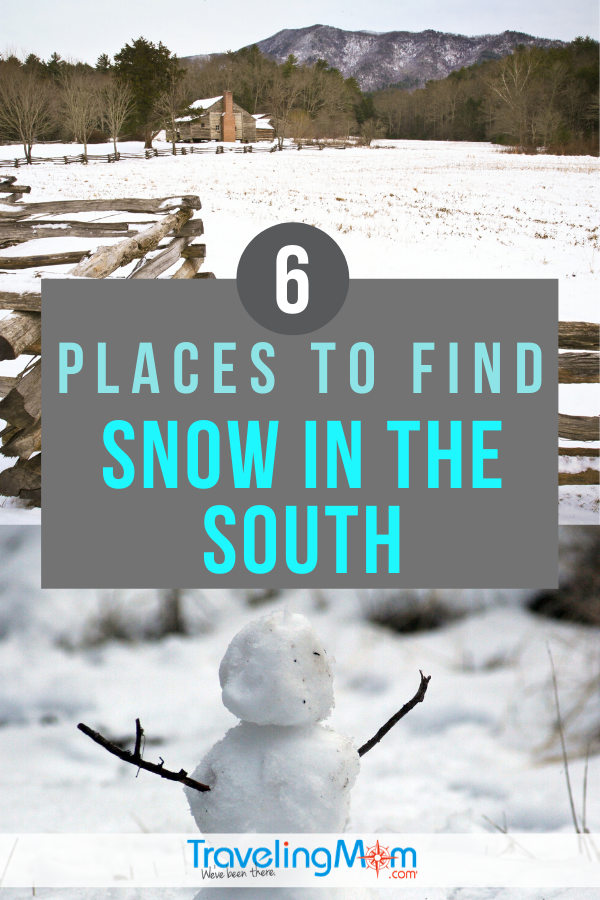 Want to see snowfall in Florida? Yes, it does snow in the south and we're sharing 6 places to find your winter chill in the southern states. #TMOM #Winter #SouthernTravel | TravelingMom | Winter Travel