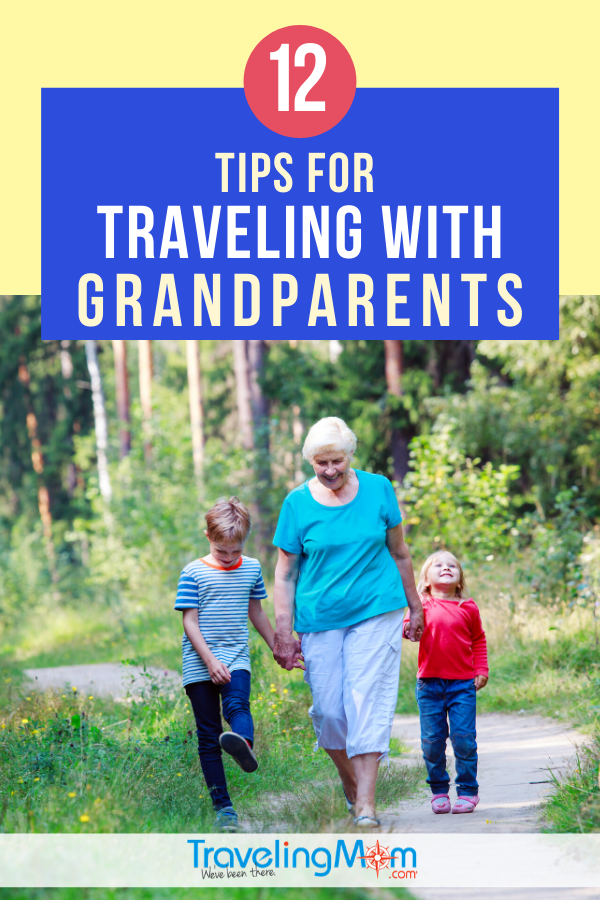 Taking grandparent along on a trip? There are some things to know before traveling with seniors. These 12 practical multigenerational tips will help your vacation with an older person go more smoothly! #TMOM #Grandparent #SeniorCitizen #MultiGenerational | TravelingMom