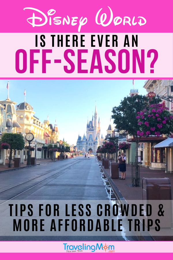 "Is there ever a time at Walt Disney World where it's less crowded and more affordable? Learn about Disney's ""Value"" season with tons of tips on saving money at Disney and scheduling vacations for fewer crowds. #TMOM #Disney #WDW #DisneyTips #DisneyWorld 