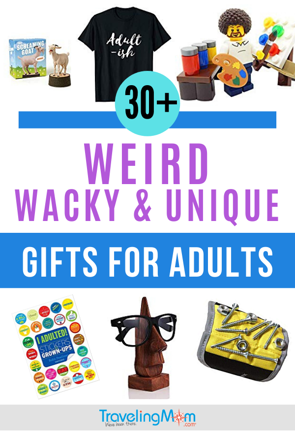 You know the person on your gift list that LOVES all things weird, wacky and unique, this is the shopping guide just for them. This one hits all the price points, with ideas for seniors, art lovers, men and quirky practical gifts. #GiftGuide #Shopping #HolidayGifts