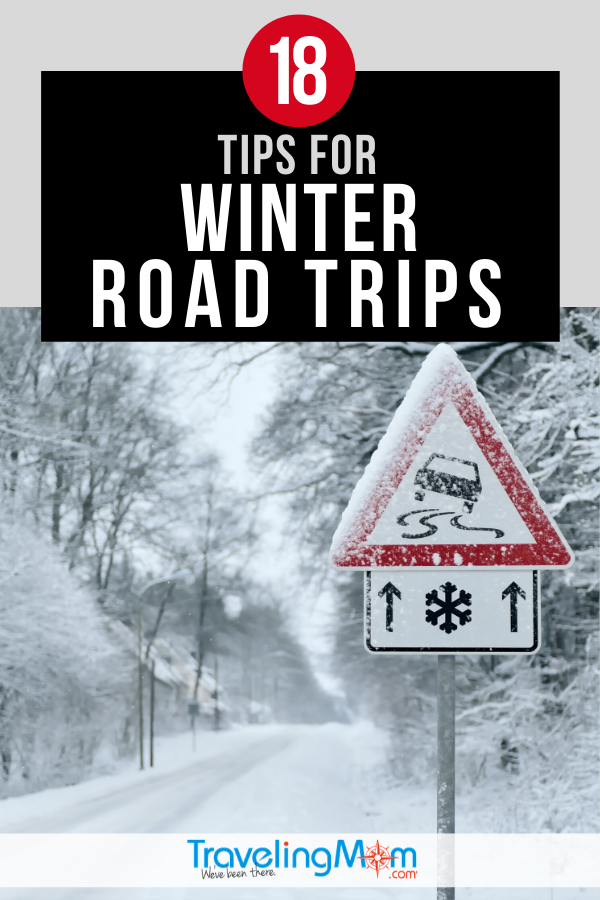 Taking a winter season road trip this holiday? These are the top 18 things you need to know before you hit the road, from what to bring in the car to keeping everyone safe on slippery roads. #TMOM #WinterTravel #TravelTips #RoadTrip #HolidayTravel | TravelingMom